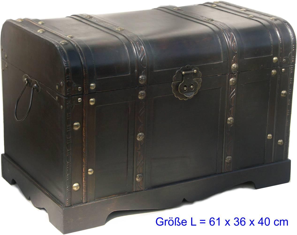 truhe bauerntruhe holztruhe schatztruhe tisch kommode ebay. Black Bedroom Furniture Sets. Home Design Ideas