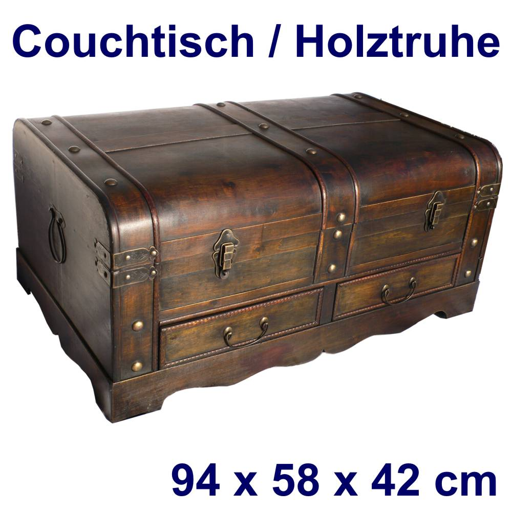 truhe couchtisch holztruhe kommode tisch beistelltisch ebay. Black Bedroom Furniture Sets. Home Design Ideas