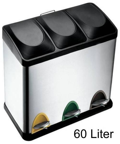 Mülleimer 60 Liter : 60 liter treteimer m lltrennung m lleimer abfalleimer ebay ~ Markanthonyermac.com Haus und Dekorationen